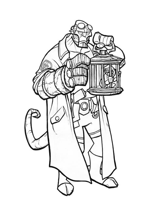 Coloriage et dessins gratuits Hellboy BD à imprimer