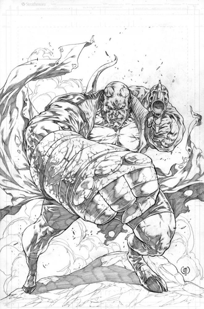 Coloriage et dessins gratuits Hellboy deluxe à imprimer