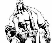 Coloriage et dessins gratuit Hellboy dessin à colorier à imprimer