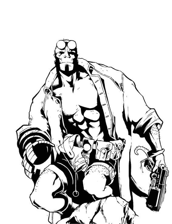 Coloriage et dessins gratuits Hellboy dessin à colorier à imprimer