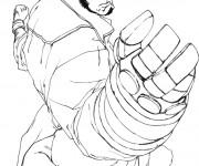 Coloriage et dessins gratuit Hellboy dessin diable à imprimer