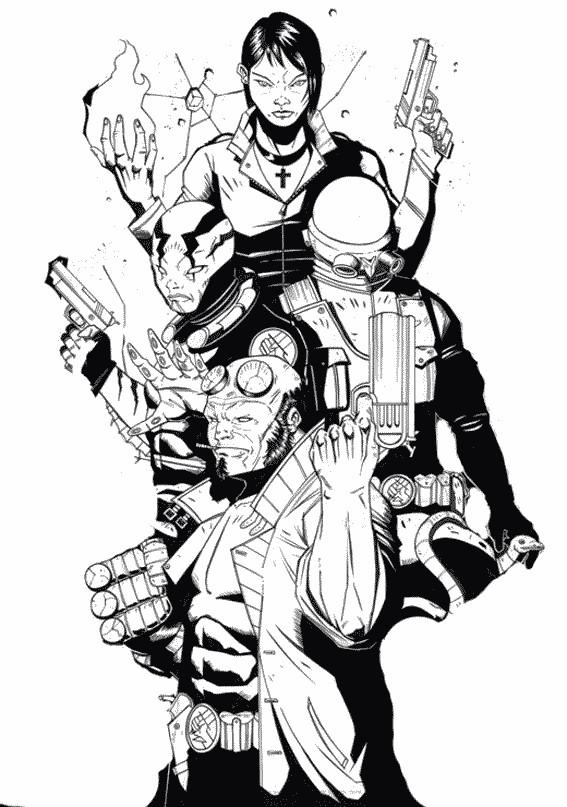 Coloriage et dessins gratuits Hellboy en ligne à imprimer