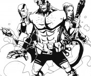 Coloriage et dessins gratuit Hellboy et ses amis à télécharger à imprimer