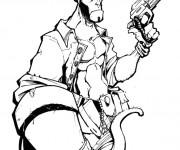 Coloriage et dessins gratuit Hellboy le diable image à imprimer