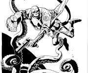 Coloriage et dessins gratuit Hellboy le fils de diable dessin animé à imprimer