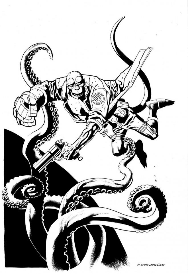 Coloriage et dessins gratuits Hellboy le fils de diable dessin animé à imprimer