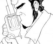 Coloriage et dessins gratuit Hellboy pense à imprimer