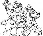 Coloriage et dessins gratuit Le roi sur son cheval à imprimer