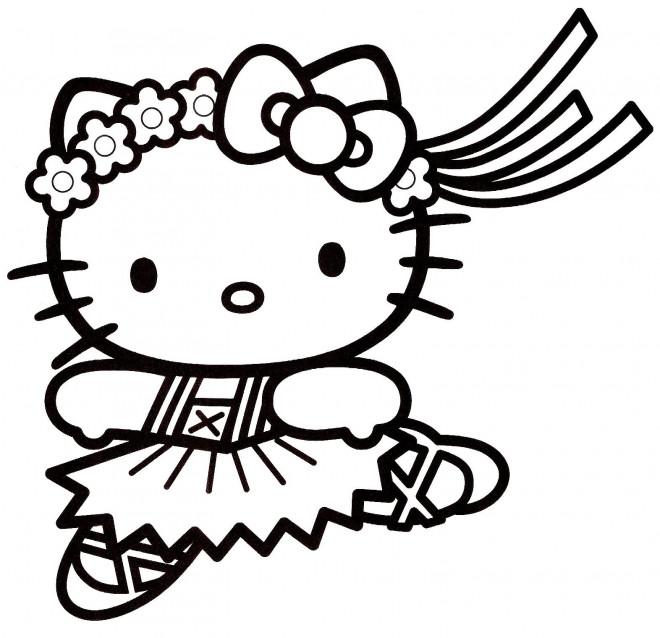 Coloriage Hello Kitty Vecteur Dessin Gratuit à Imprimer