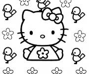 Coloriage Dessin Hello Kitty en couleur
