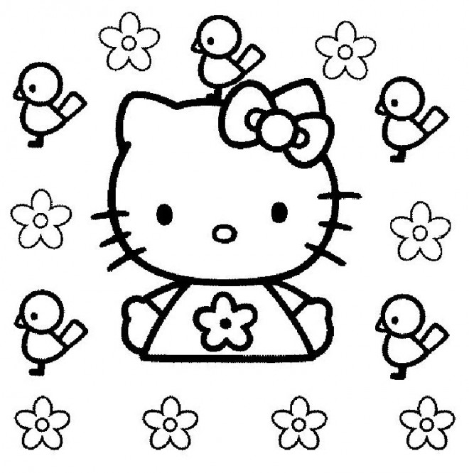 Coloriage Dessin Hello Kitty En Couleur Dessin Gratuit A Imprimer