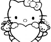 Coloriage Dessin Hello Kitty facile