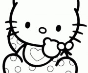 Coloriage Hello bébé Kitty