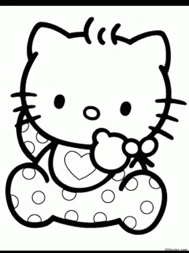 Coloriage et dessins gratuits Hello bébé Kitty à imprimer