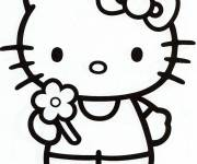 Coloriage et dessins gratuit Hello Kitty à colorier à imprimer