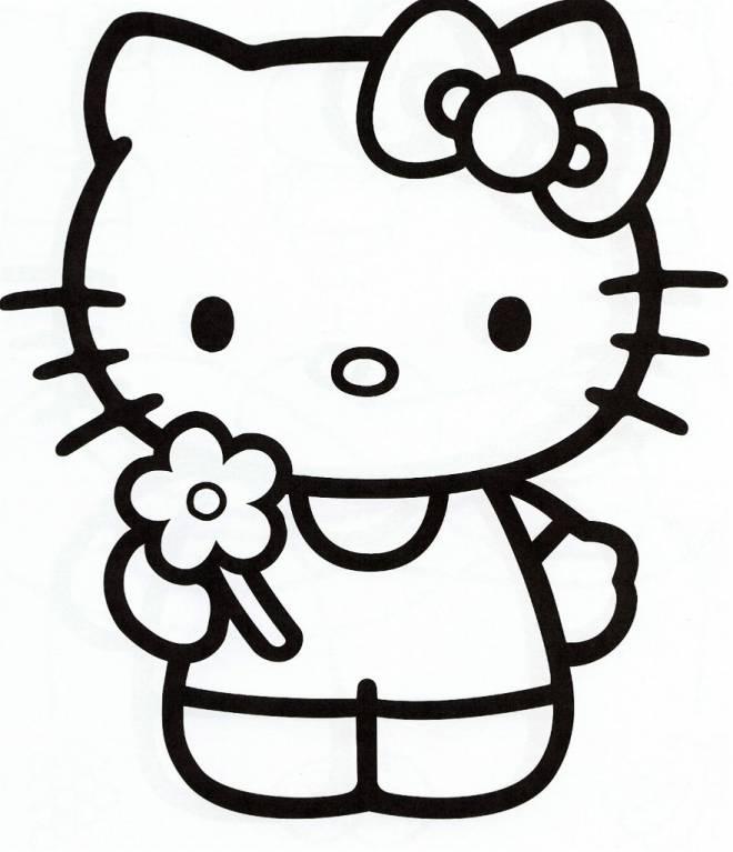 Coloriage Hello Kitty colorier dessin gratuit imprimer