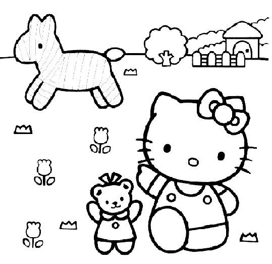 Coloriage et dessins gratuits Hello Kitty à imprimer à imprimer