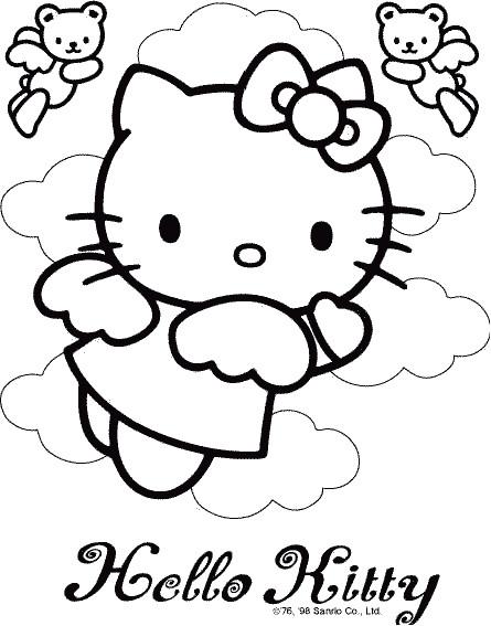 Coloriage Hello Kitty à imprimer A4 dessin gratuit à imprimer