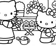 Coloriage et dessins gratuit Hello Kitty à imprimer gratuit à imprimer