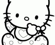 Coloriage Hello Kitty bébé