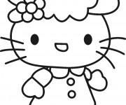 Coloriage et dessins gratuit Hello Kitty en ligne gratuit à imprimer