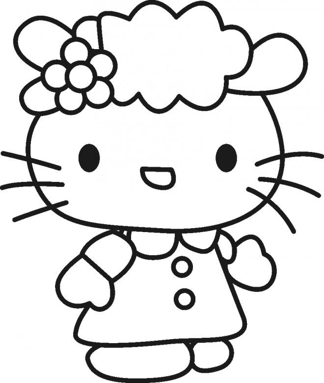 Coloriage Hello Kitty en ligne gratuit dessin gratuit à ...