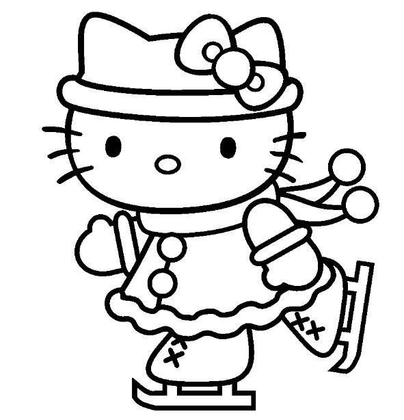 Coloriage Hello Kitty gratuit à imprimer liste 20 à 40