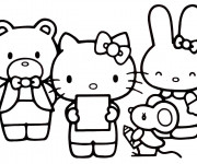 Coloriage Hello Kitty et ses amis