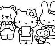 Coloriage et dessins gratuit Hello Kitty et ses amis à imprimer