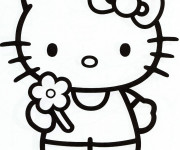 Coloriage Hello Kitty facile