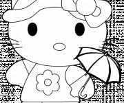 Coloriage Hello Kitty facile à imprimer