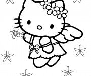 Coloriage Hello Kitty l'ange