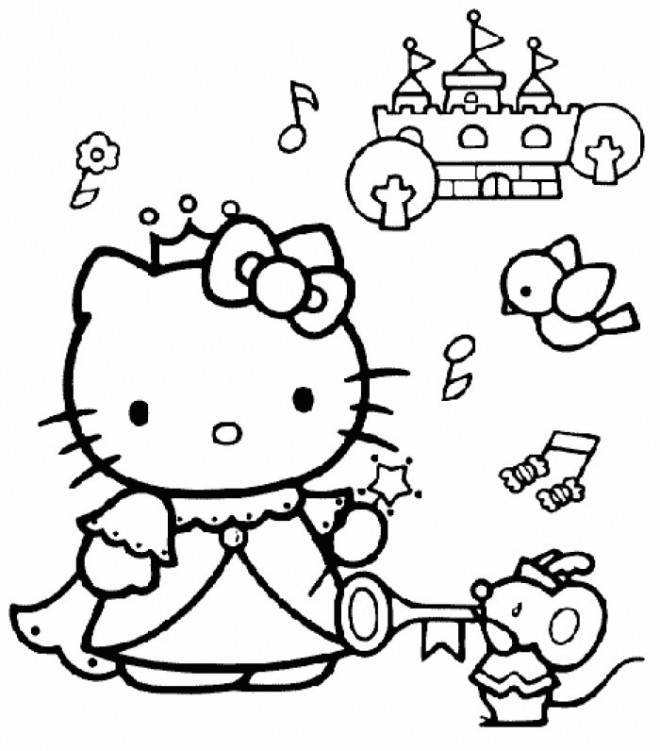 Coloriage hello kitty princess en ligne dessin gratuit imprimer - Coloriage hello kitty en ligne ...