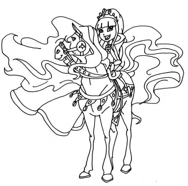coloriage horseland 1 dessin gratuit à imprimer