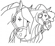 Coloriage Horseland