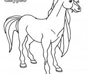 Coloriage et dessins gratuit Horseland Calypso à imprimer