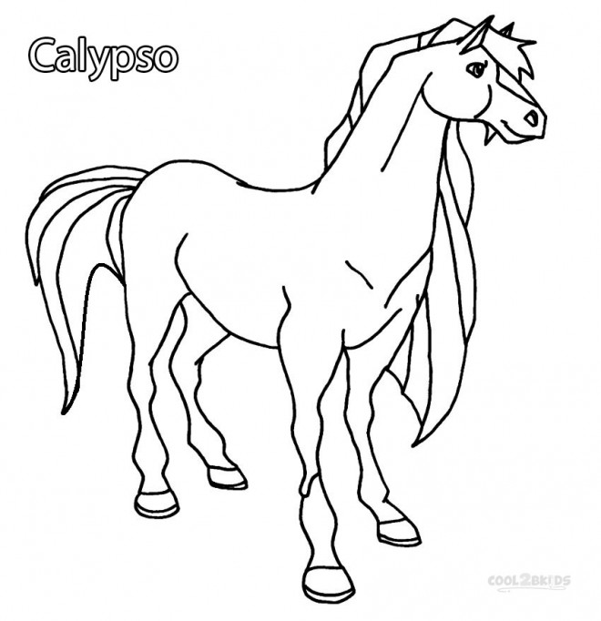 Coloriage et dessins gratuits Horseland Calypso à imprimer