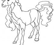 Coloriage Horseland dessin animé