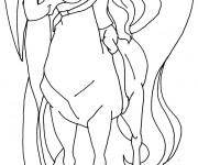 Coloriage dessin  Horseland dessin animé