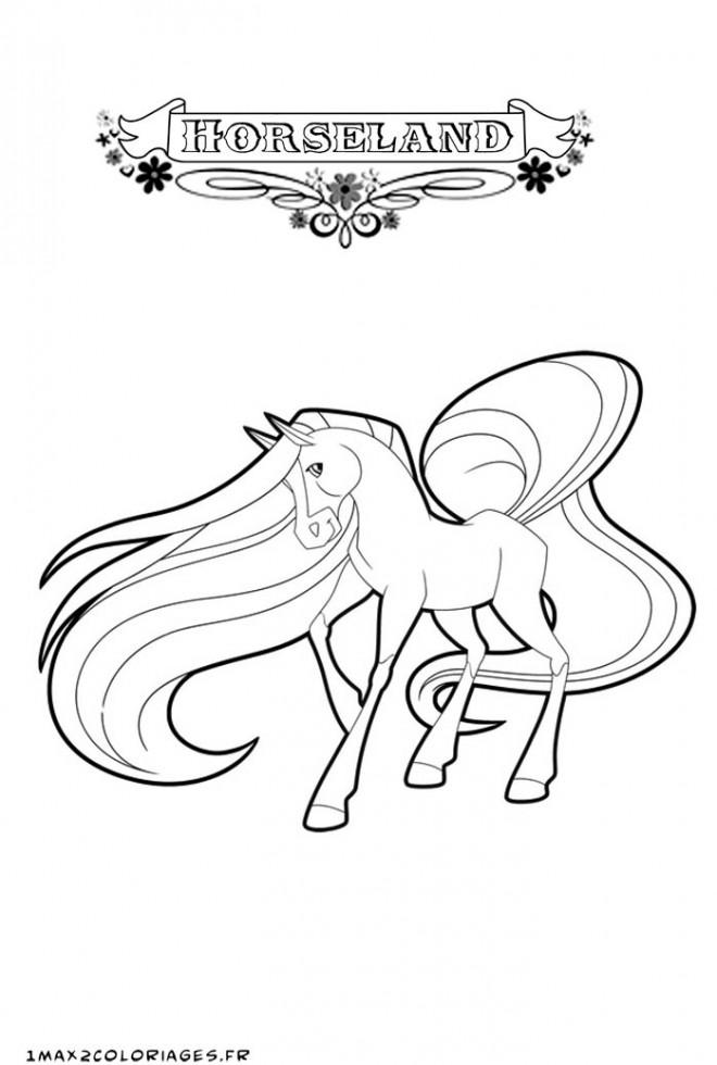 Coloriage Horseland dessin animé en ligne dessin gratuit à ...