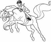Coloriage et dessins gratuit Horseland en plein saut à imprimer