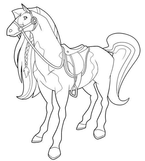 Coloriage et dessins gratuits Horseland et Pepper à imprimer