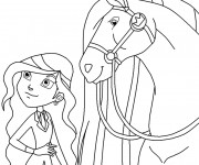 Coloriage dessin  Horseland gratuit