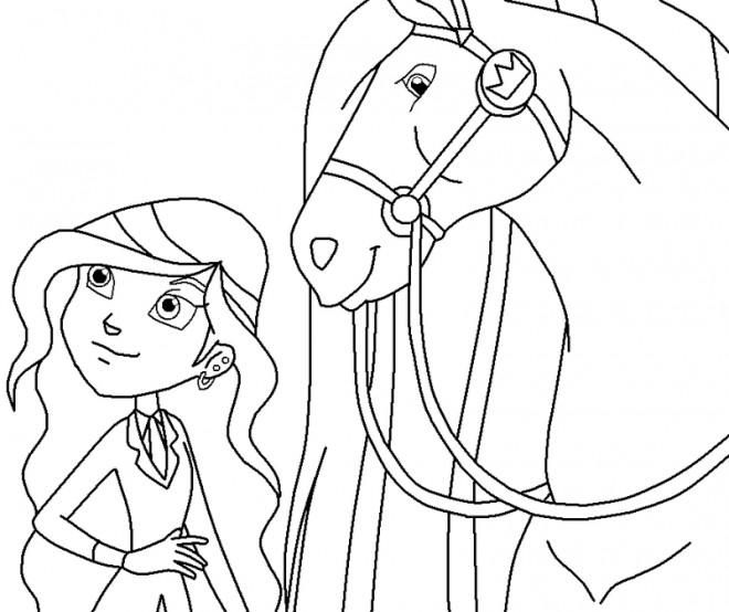 Coloriage et dessins gratuits Horseland gratuit à imprimer