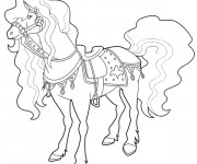 Coloriage Horseland Scarlet