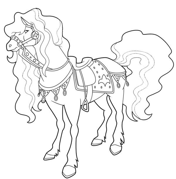 Coloriage et dessins gratuits Horseland Scarlet à imprimer