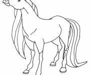 Coloriage et dessins gratuit Horseland Scarlet en ligne à imprimer