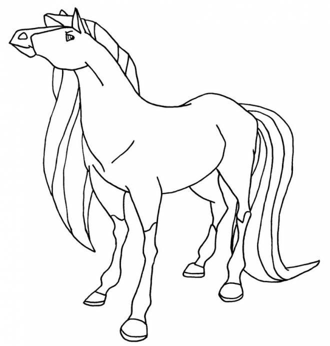 Coloriage et dessins gratuits Horseland Scarlet en ligne à imprimer