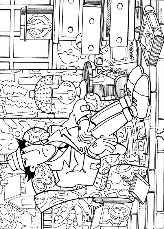 Coloriage et dessins gratuits Inspecteur Gadget assis à imprimer