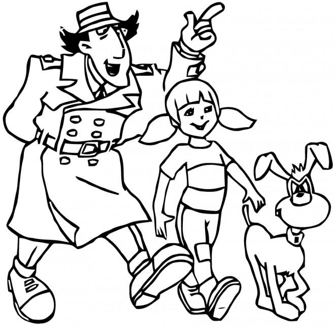 Coloriage et dessins gratuits Inspecteur Gadget dessin animé à imprimer